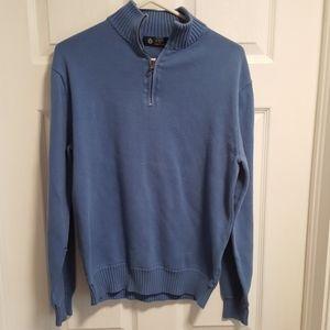 j. crew light blue zip sweater